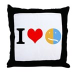 I <3 Face Throw Pillow