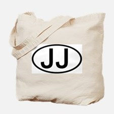 JJ - Initial Oval Tote Bag