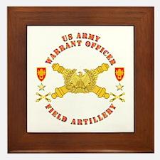 Warrant Officer - Field Artillery Framed Tile