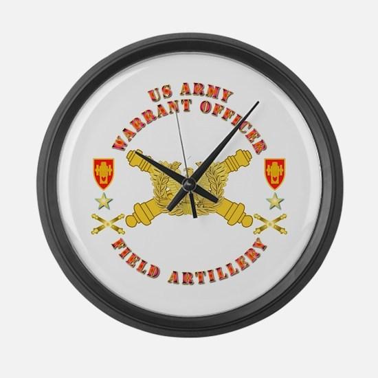 Warrant Officer - Field Artillery Large Wall Clock