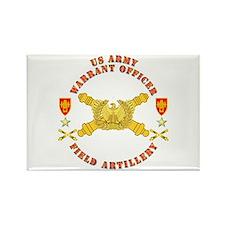Warrant Officer - Field Artillery Rectangle Magnet
