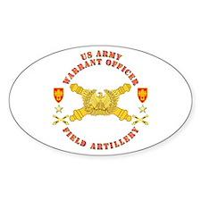 Warrant Officer - Field Artillery Decal