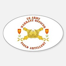 Warrant Officer - Field Artillery Sticker (Oval)
