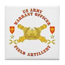 Warrant Officer - Field Artillery Tile Coaster