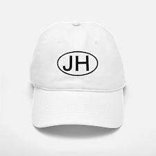 JH - Initial Oval Baseball Baseball Cap