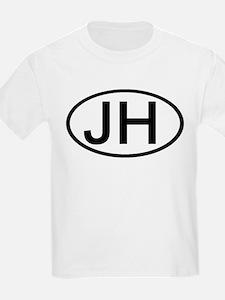 JH - Initial Oval Kids T-Shirt