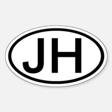 JH - Initial Oval Oval Decal