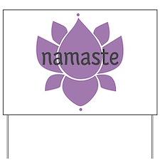 namaste Yard Sign