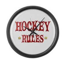 Hockey Rules Large Wall Clock