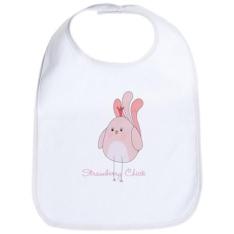 Strawberry Chick Custom Bib
