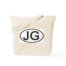 JG - Initial Oval Tote Bag