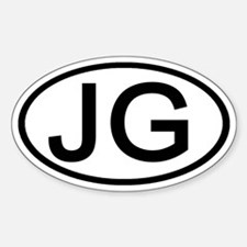 JG - Initial Oval Oval Decal