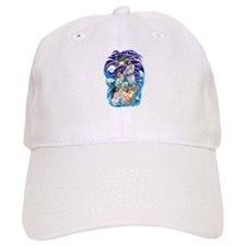 Jesus Walks on Water Baseball Cap