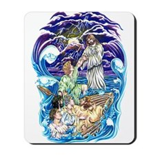 Jesus Walks on Water Mousepad