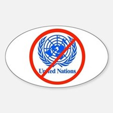 UN OUT OF US Sticker (Oval)