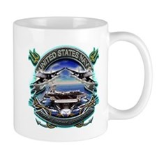 US Navy Carrier Underway Anch Small Mug