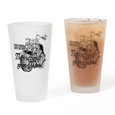 Two wheels move the soul Motorcycle Drinking Glass
