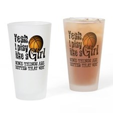 Play Like a Girl - Basketball Drinking Glass