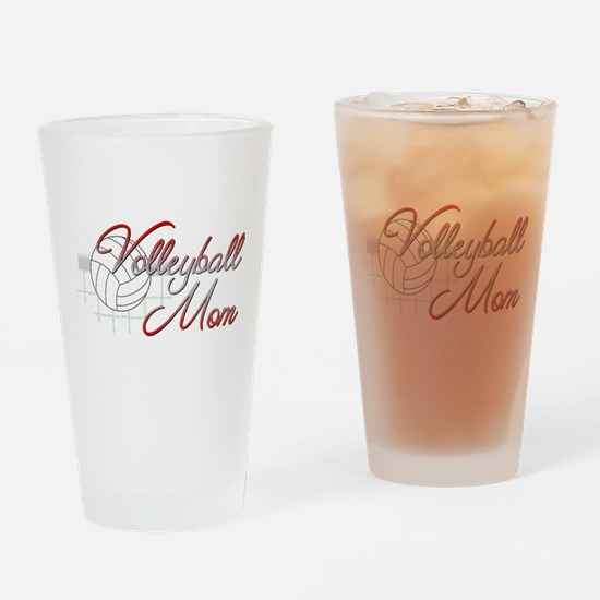 Volleyball Mom 3 Drinking Glass