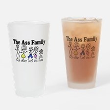 The Ass Family Drinking Glass