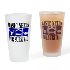 Basic Needs for Fishing Drinking Glass
