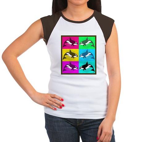 Killer Whale Women's Cap Sleeve T-Shirt