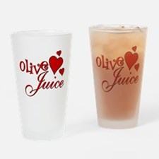 Olive Juice (I Love You) Drinking Glass