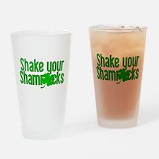 Shake Your Shamrocks! Drinking Glass