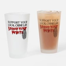 Crime Lab - Leave Your Prints Drinking Glass