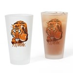 Meow With Attitude Drinking Glass
