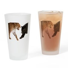 Big Cats Drinking Glass