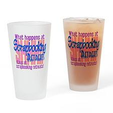 Scrapbooking Retreats Shhh! Drinking Glass