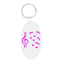 G-clef with Musical Notes VII Keychains