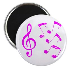 G-clef with Musical Notes VII Magnet