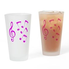 G-clef with Musical Notes VII Drinking Glass
