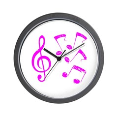 G-clef with Musical Notes VII Wall Clock