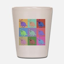 Warhol Style Jack Russell Design on Shot Glass