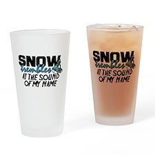 Snow Trembles Drinking Glass