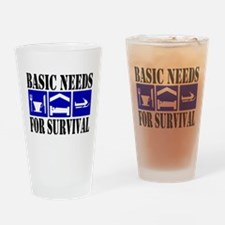 Basic Needs for Survival Drinking Glass