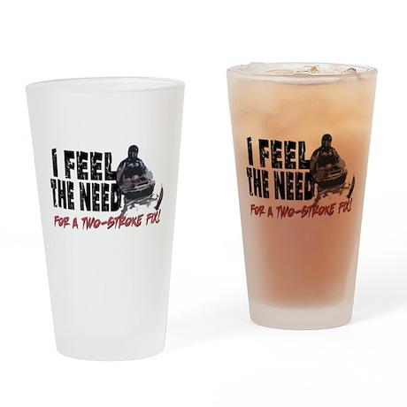 Two Stroke Fix Drinking Glass