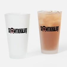 Snowmobile Skull Drinking Glass
