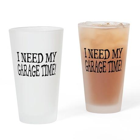 Garage Time Drinking Glass