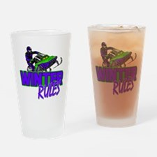 Winter Rules Drinking Glass