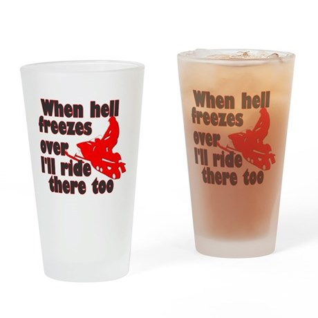 Hell Freezes Over Drinking Glass