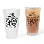 What Happens on the Trail... Drinking Glass