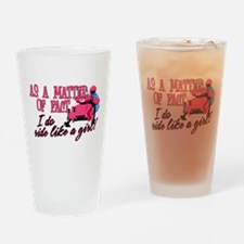 Ride Like a Girl Drinking Glass