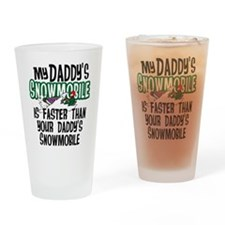 Daddy's Snowmobile Drinking Glass
