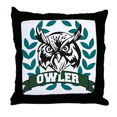 Owling Owler Throw Pillow