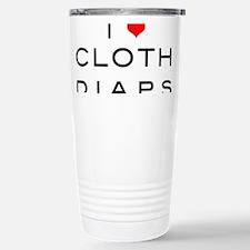 I <3 cloth diaps RED Travel Mug