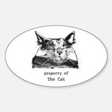 Property of The Cat Oval Decal